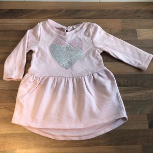 Country Road pink long sleeve baby dress size 0